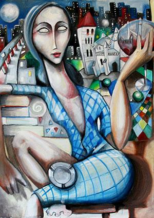 'Cuando conozca tu alma, pintaré tus ojos' de Javier Blanco Artista Contenporáneo España