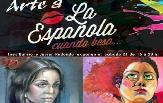 Cartel Exposición de Javier Blanco Artista Contemporáneo España en la Española