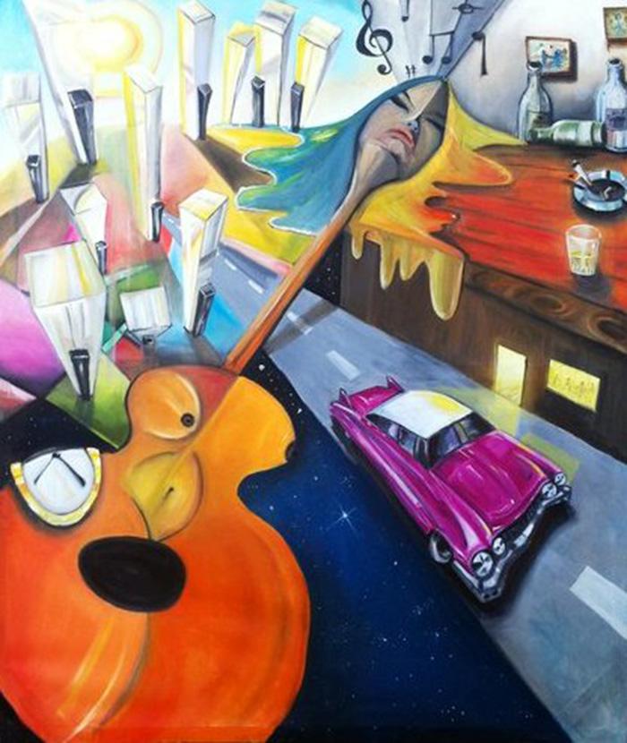 Cadillac solitario de Javier Blanco Artista Contemporáneo España