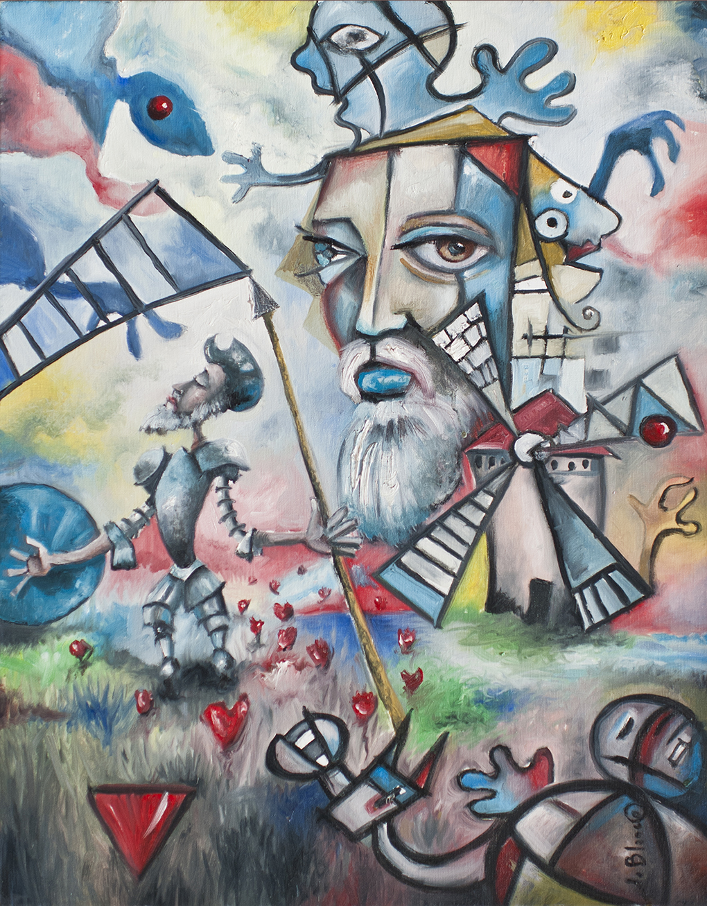 Los demonios de Don quijote de Javier Blanco Artista Contemporáneo España
