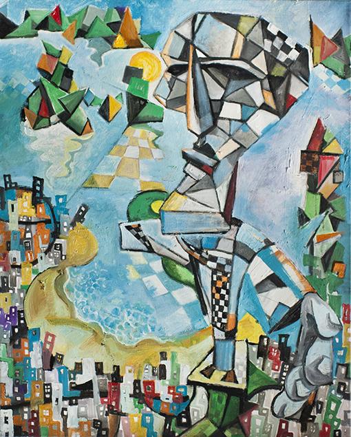 El Cristo de Brasil de Javier Blanco Artista Contemporáneo España