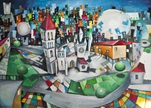 La Antigua de Valladolid de Javier Blanco Artista Contemporáneo España