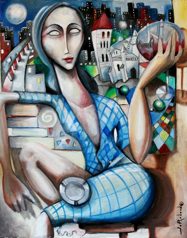 Cuando conozca tu alma, pintaré tus ojos de Javier Blanco Artista Contemporáneo España